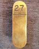 VT 2674. MIDLAND RAILWAY BRASS LEVER DESCRIPTION PLATE 27