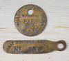 VT 3114. GREAT EASTERN RAILWAY  BRASS WORKMANS PASS & KEY TAG.