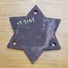VT 3182. CAST IRON TANKER WAGON STAR PLATE L.M.S. DATED 1928