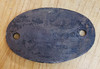VT 3614. CAST IRON SHED CODE PLATE  30 A  STRATFORD.