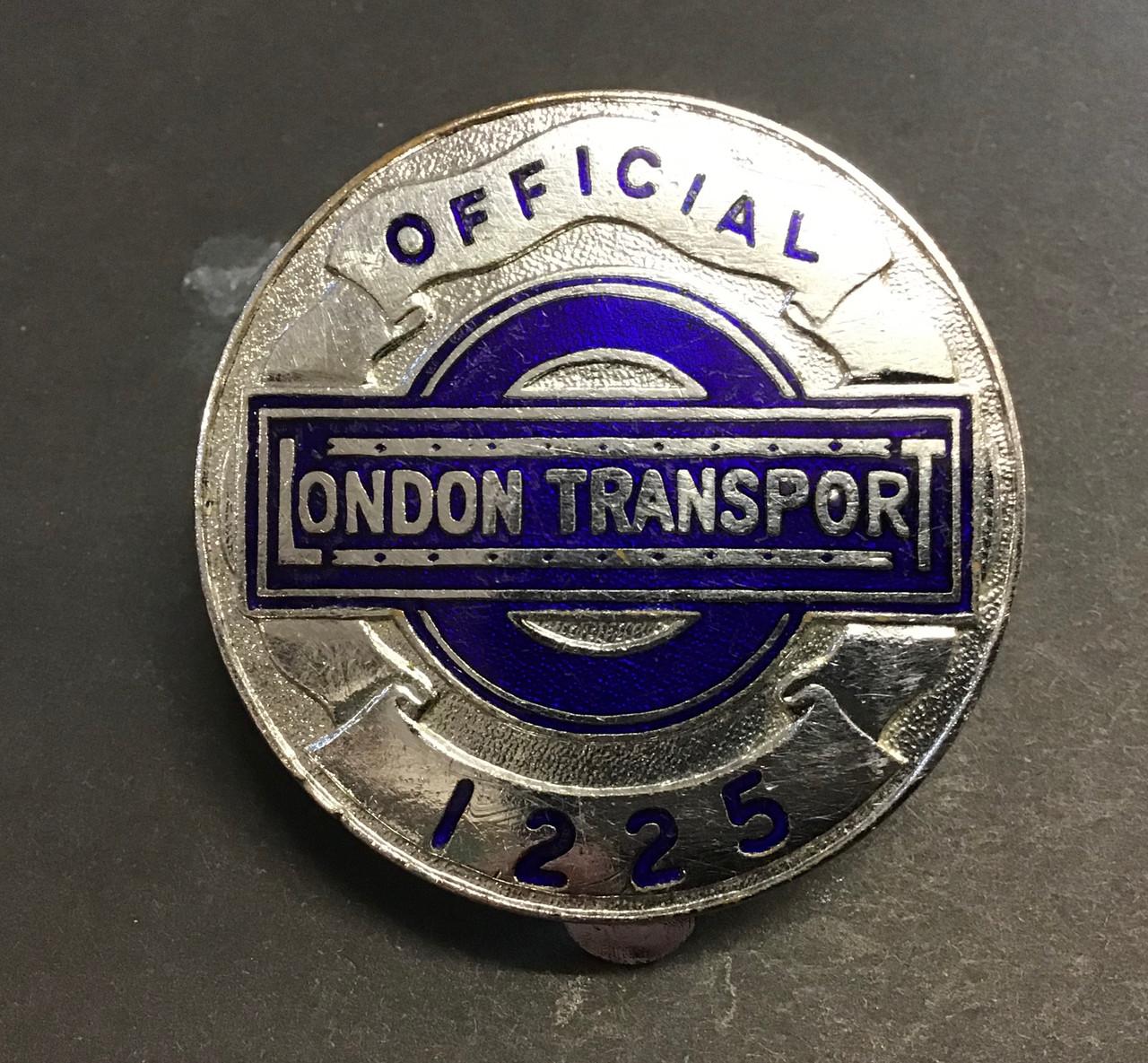 GD 653 LONDON TRANSPORT OFFICIALS PLATE