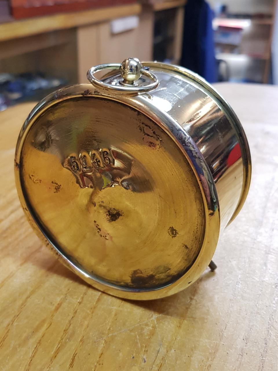 VT 3099. G.W.R. BRASS SIGNAL BOX DRUM CLOCK SUPPLIED BY KAYS.