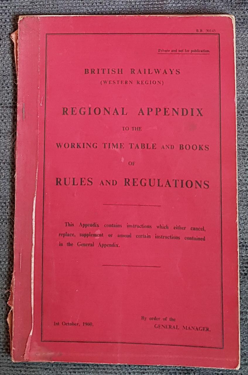 VT 2694. BRITISH RAILWAYS REGIONAL APPENDIX 1960.