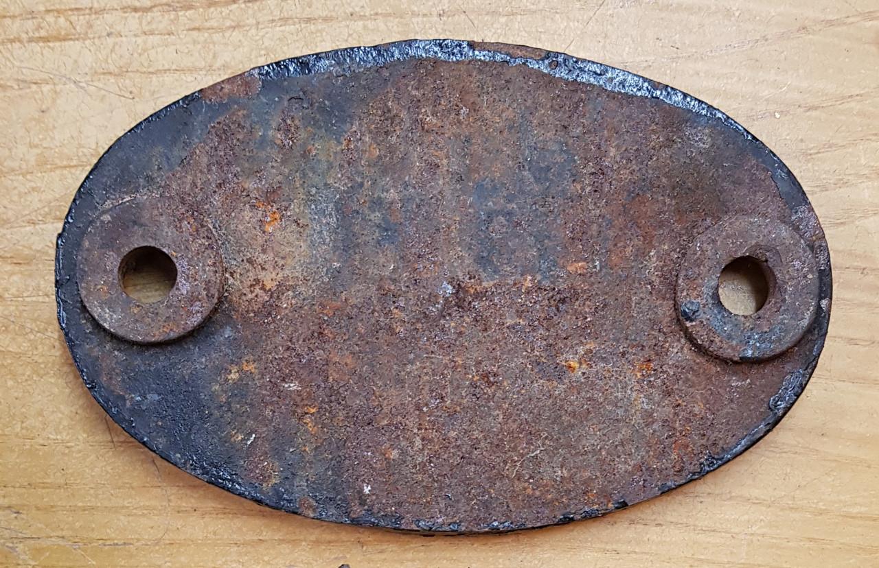 VT 3445. CAST IRON SHED CODE PLATE EX NOTTINGHAM MIDLAND.