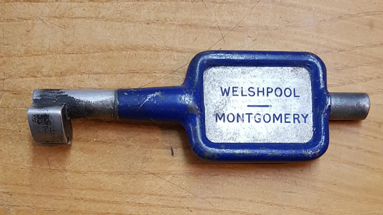 VT 3451. ALLOY SINGLE LINE KEY  WELSHPOOL-MONTGOMERY