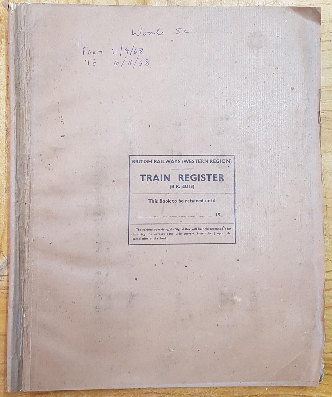 VT 3730 SIGNAL BOC TRAIN REGISTER WORLE JUNCTION