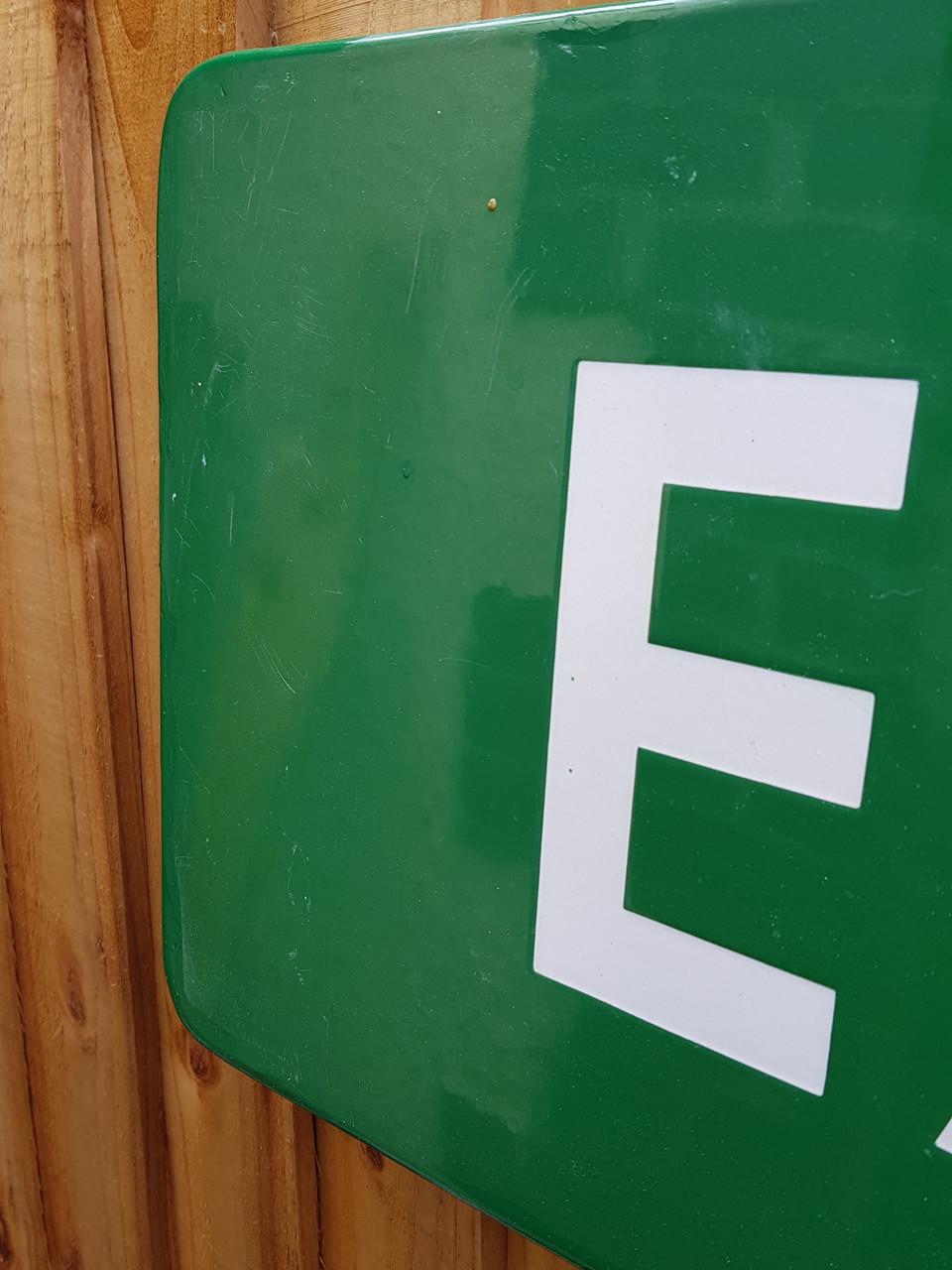 "VT 3524. B.R(S) ENAMEL SIGNAL BOX NAMEBOARD ""EAST PUTNEY""."