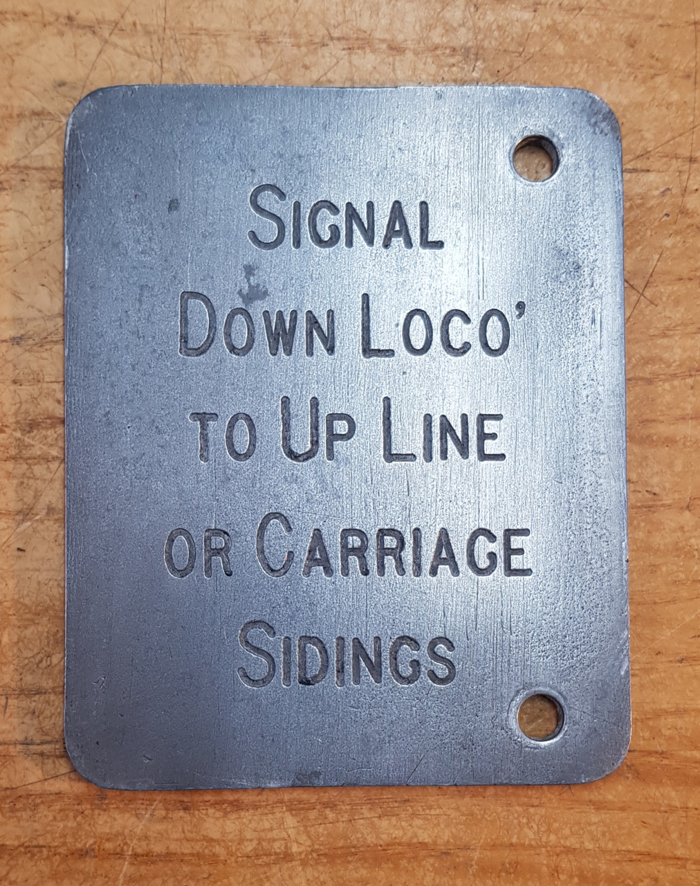 VT 4103. BR(M)  ALLOY LEVER DESCRIPTION PLATE WITH LOCO AND CARRIAGE.