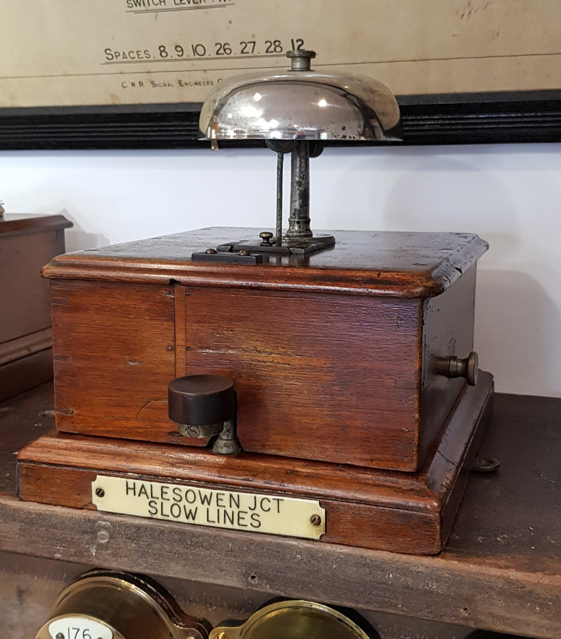 """VT 4034. VERY EARLY MIDLAND RAILWAY EX """"INDICATOR"""" TAPPER BLOCK BELL."""