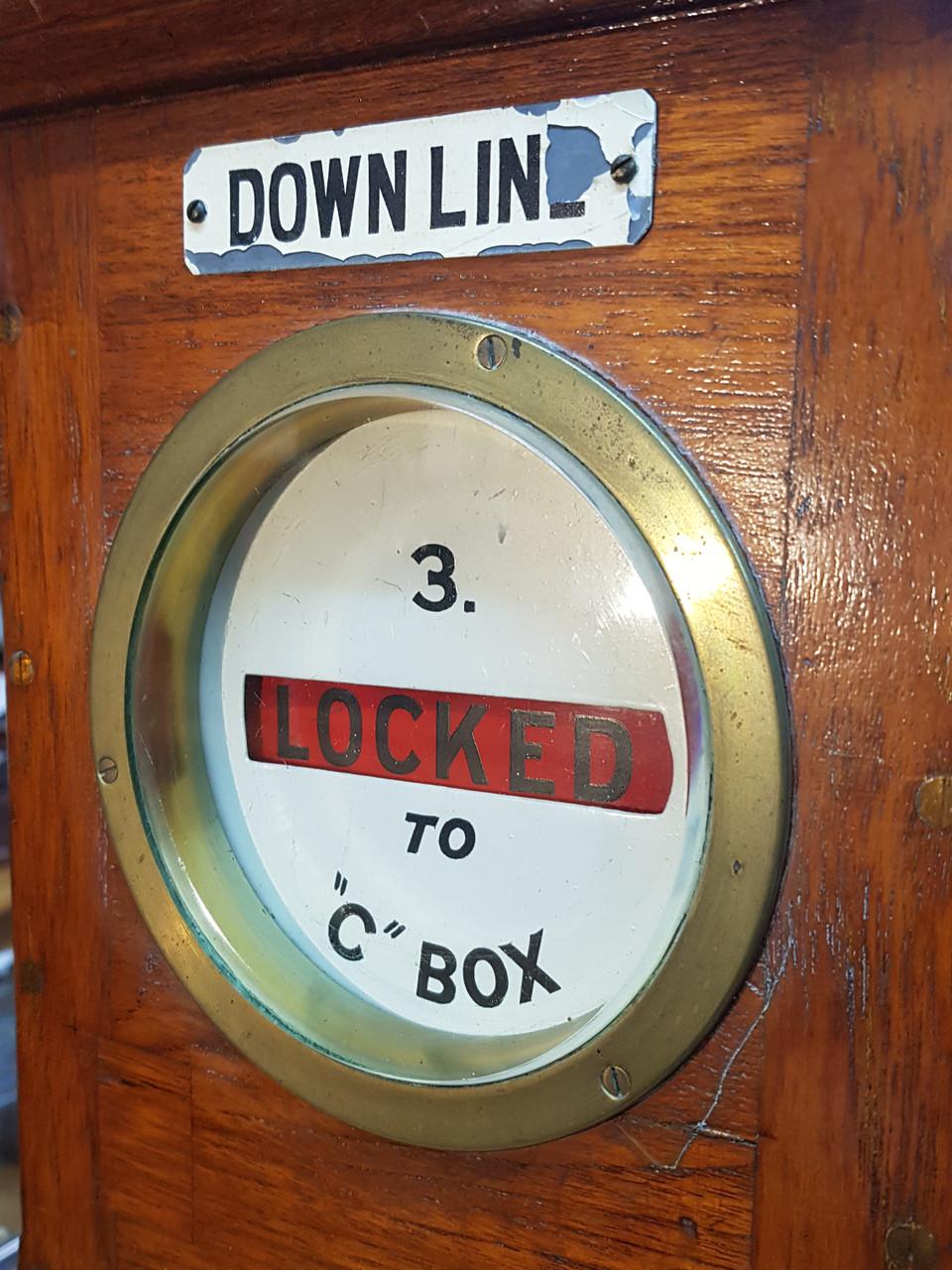 "VT 3916. GREAT EASTERN RAILWAY SYKES LOCK & BLOCK ""LOCKED TO C BOX"""