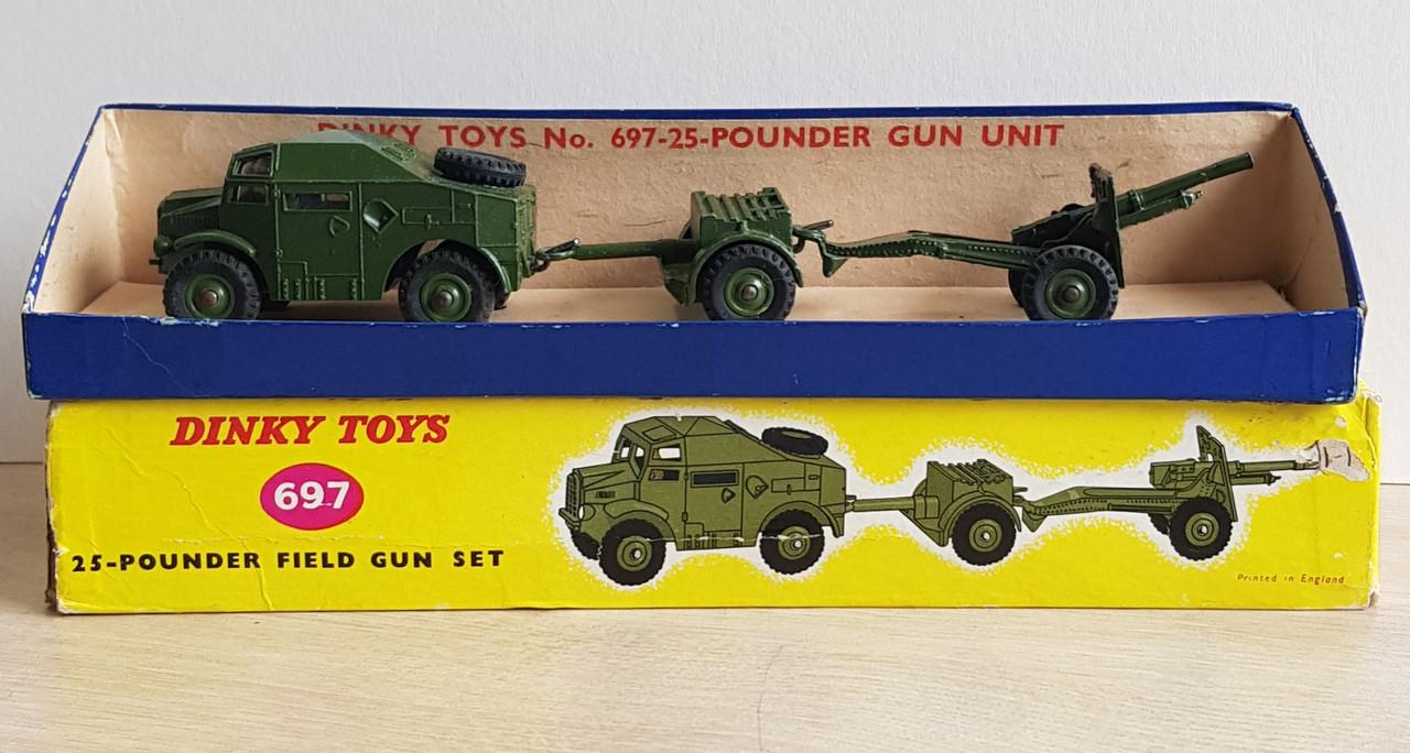 VT 4573. DINKY BOXED NO 697 25 POUNDER FIELD GUN SET