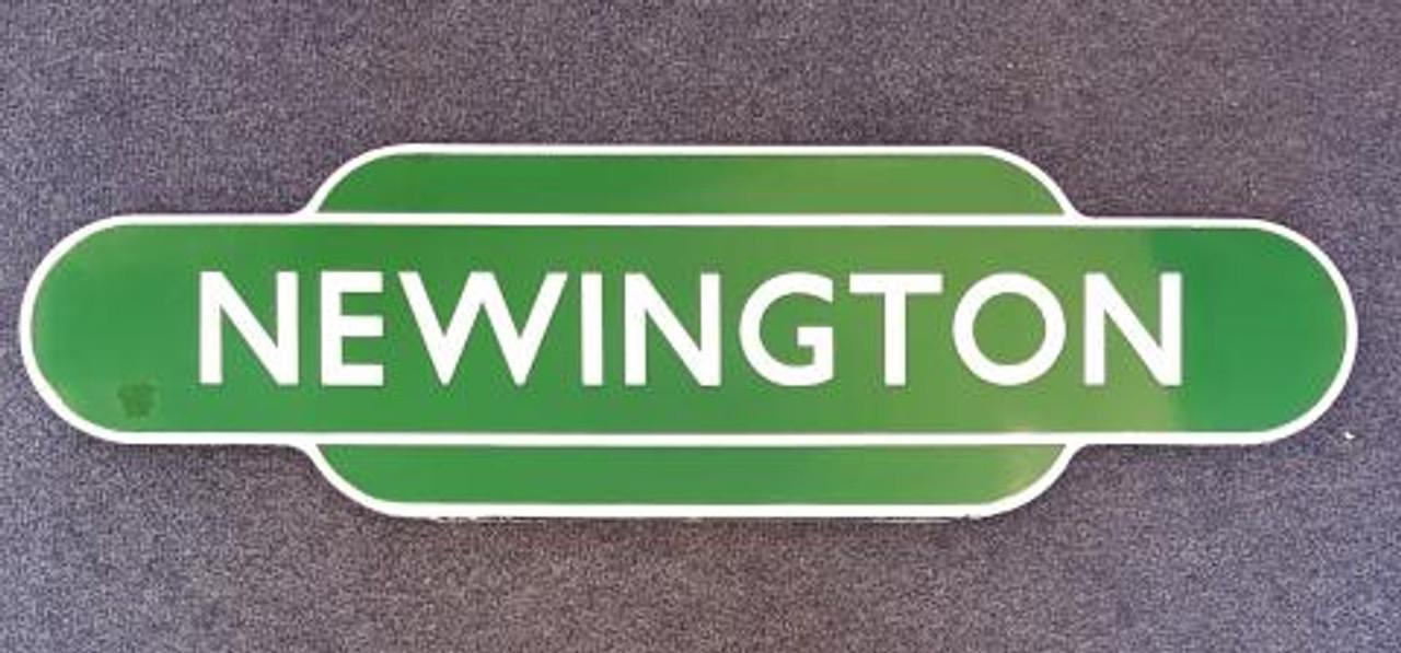 "VT1838. BR S ENAMEL TOTEM SIGN""NEWINGTON"""