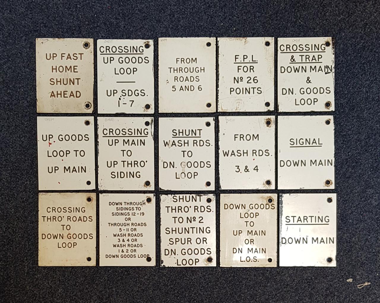 VT 021419 LMR OXLEY TRAFFOLITE SIGNAL BOX DESCRIPTION PLATES