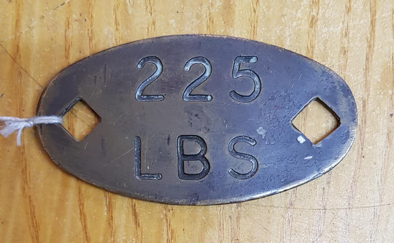 VT 2136. BRONZE BOILER PLATE FROM B.R. STANDARD 73096.
