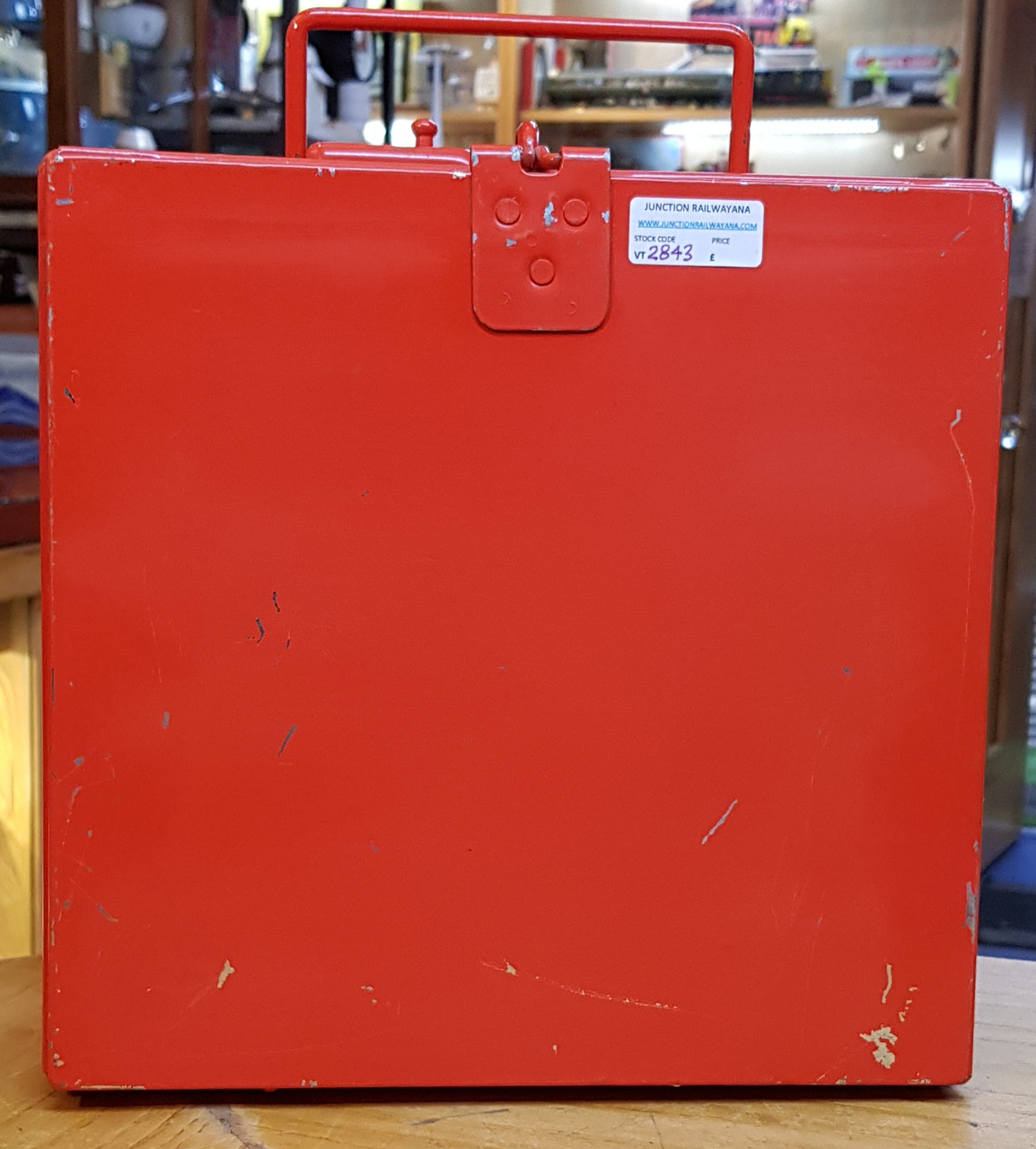 VT 2843.  B.R. METAL SIGNAL BOX DETONATOR BOX.