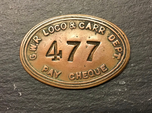 GD 658 GWR LOCO & CARRIAGE DEPARTMENT PAY CHEQUE