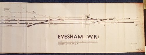 VT 2567.  B.R.  W.R. OFFICE COPY DIAGRAM  EVESHAM W.R.
