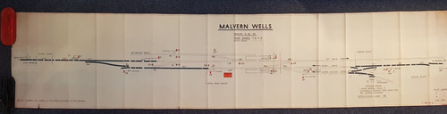 VT 2571.  B.R.  W.R. OFFICE COPY DIAGRAM MALVERN WELLS.