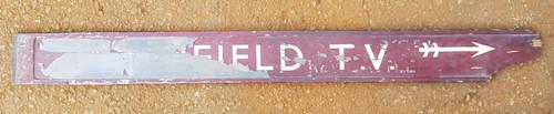 """VT 3020. WOODEN FINGER BOARD """" LICHFIELD  T.V.""""  TRENT VALLEY"""