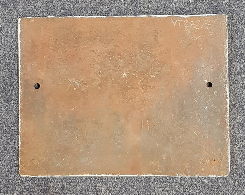 VT 2837.  G.W.R. CAST IRON SIGNAL BOX DOOR NOTICE.