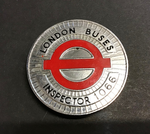 GD 647 LONDON BUSES INSPECTOR WALLET MEDALLION