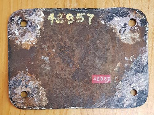 VT 2741. L.M.S. TENDER WORKSPLATES FROM 2-6.0. MOGUL No 42957.