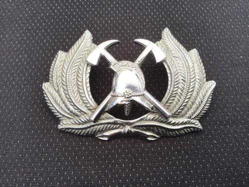 GD 634 FIRE BRIGADE CAP BADGE SENIOR OFFICER
