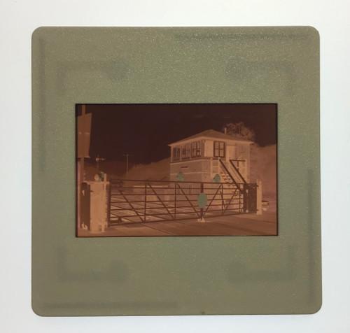 GD 6007 COLOUR NEGATIVE OF MARSH BROOK SIGNAL BOX