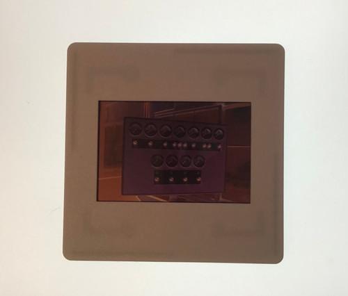 GD 6016 COLOUR NEGATIVE OF SIGNALLING CONTROL CONSOLE ABERCYNON SIGNAL BOX