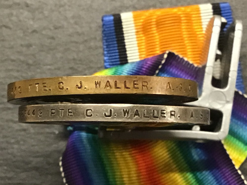 GD 065 PAIR OF WW 1 MEDALS ARMY SERVICE CORPS