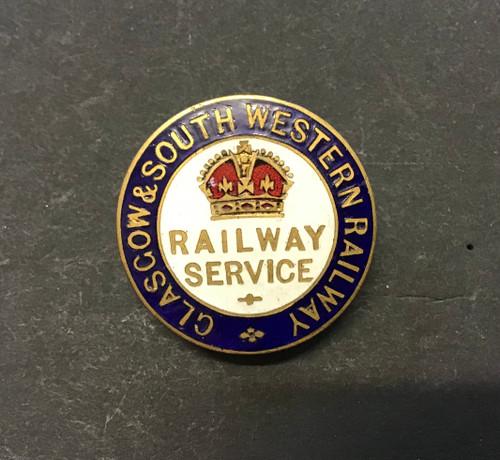 GD 3001 WW1 RAILWAY SERVICE BADGE GLASGOW & SOUTH WESTERN RAILWAY