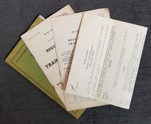 VT 3091. BRITISH RAILWAY REGULATIONS FOR TRAIN SIGNALLING 1960.