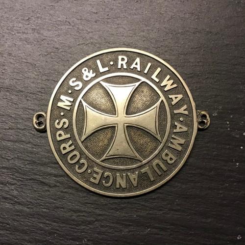 GD 954 MANCHESTER SHEFFIELD & LINCOLNSHIRE RAILWAY AMBULANCE SLEEVE BADGE