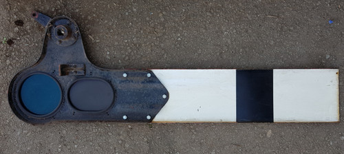 VT 0691.  PRESSED STEEL UPPER QUADRANT SPECTACLE PLATE AND BLADE.