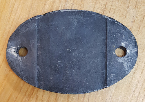 VT 3611. CAST IRON SHED CODE PLATE   62 A THORNTON JUNCTION..