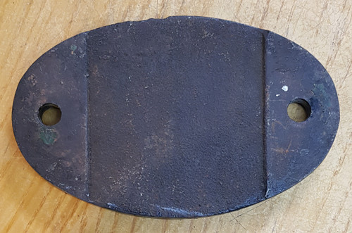 VT 3649. CAST IRON SHEDCODE PLATE 55 H NEVILLE HILL.