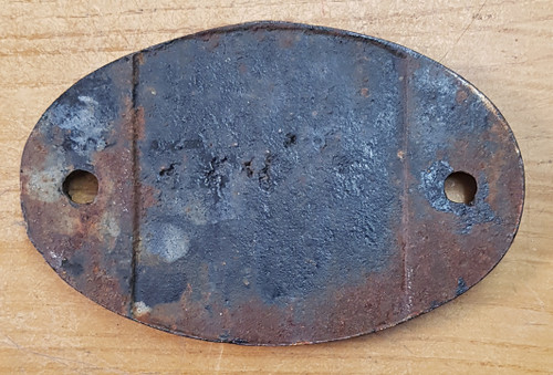 "VT 3684. CAST IRON SHED CODE PLATE 32 B ""IPSWICH"""