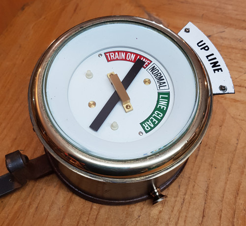 VT 3801A. SOUTHERN RAILWAY BRASS INDICATOR FROM SYKES LOCK AND BLOCK.