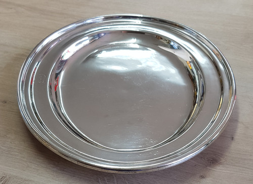 """VT 4314. WALKER & HALL SILVER PLATED """"EAST COAST JOINT STOCK"""" SERVING TRAY."""