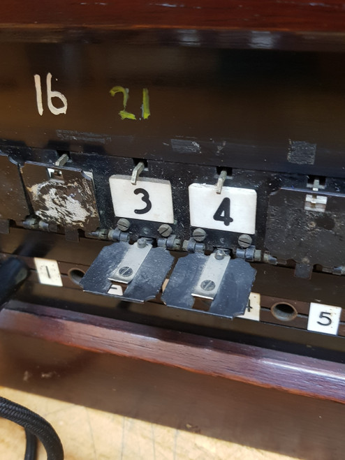 VT 4361. SIGNALBOX TELEPHONE AND SWITCHBOARD FROM ACTON WELLS JUNCTION SIGNALBOX.