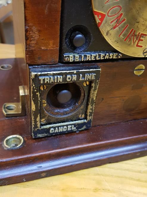 MIDLAND RAILWAY ROTARY BLOCK INDICATOR