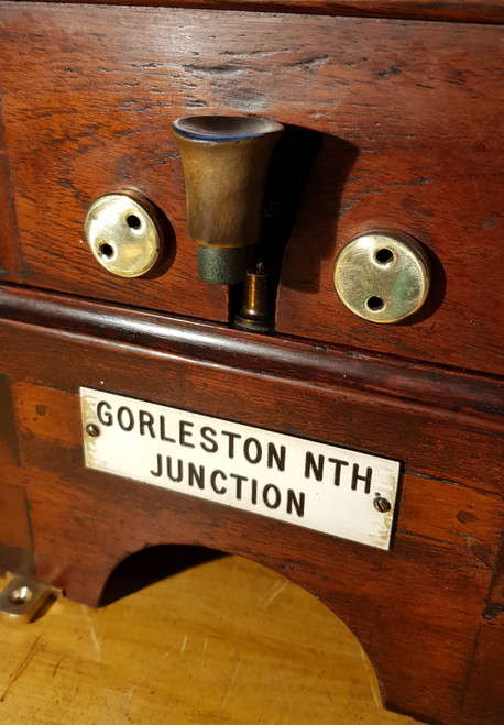 VT 0368. G.N.R. BLOCK BELL PLATED GORLESTON NORTH JUNCTION.