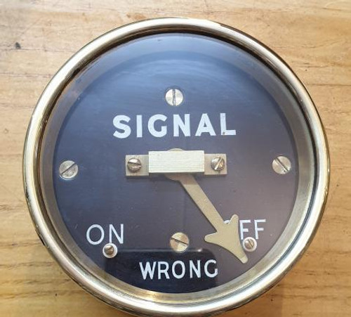 VT 2387 - SOUTHERN RAILWAY BRASS CASED DISTANT SIGNAL REPEATER