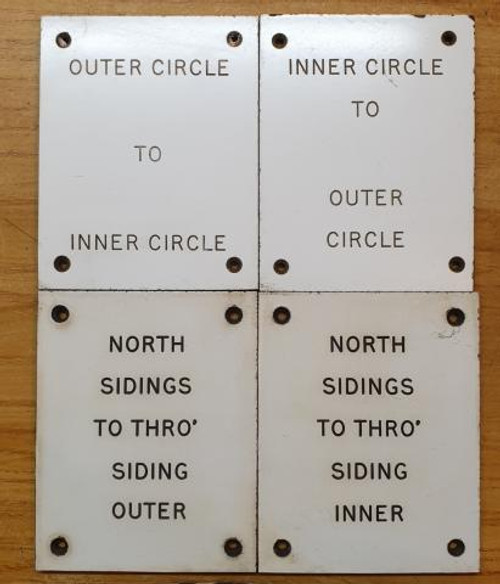 VT 2317 - B.R (LMR) LEVER DESCRIPTION PLATES X 4