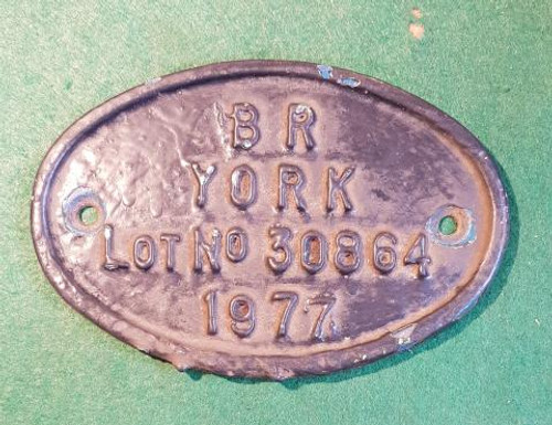 VT 1149 - BRITISH RAILWAYS OVAL WORKPLATE FROM EMU