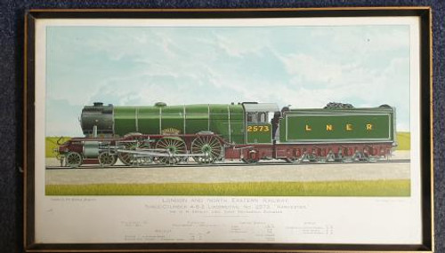 VT 1808 - LNER 2573 LOCOMOTIVE FRAMED PICTURE