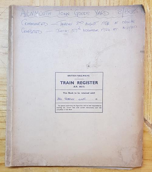 VT 1761. BR WR BLOCK TRAIN REGISTER AVONMOUTH GOODS YARD BOX.