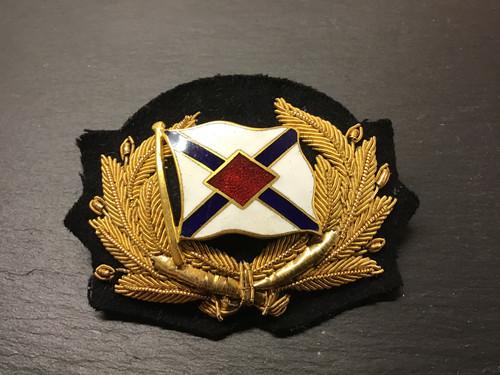 GD 891 MERCHANT NAVY OFFICER CAP BADGE OF JAMES NOURSE SHIPPING LTD