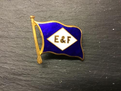 GD 752 ELDERS & FYFFES CAP BADGE CENTRE PIECE ENAMEL HOUSE FLAG.