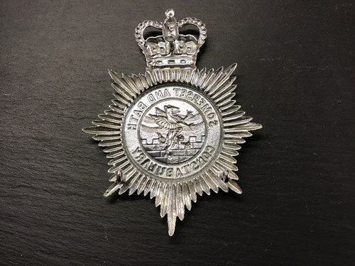 GD 754 SOMERSET & BATH CONSTABULARY HELMET PLATE.